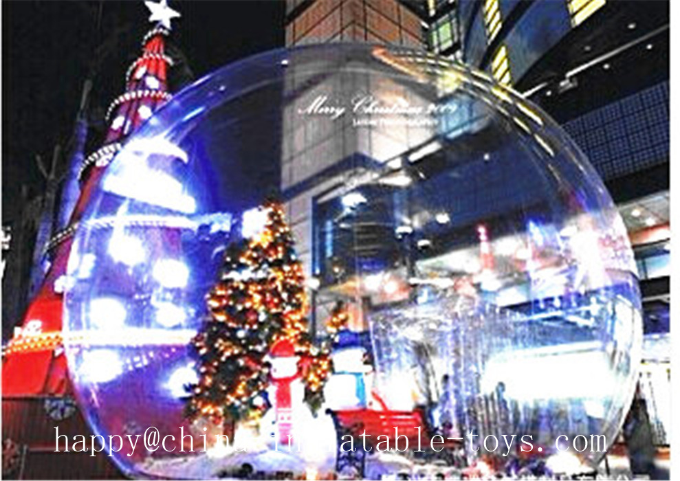Chrismas Decoration Inflatable Balloons 3M Inflatable Transparent Ball Advertising Can Be Customized(China (Mainland))