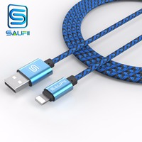 SAUFII USB Charger Cable for iPhone 5s 6 6s 5 ipad SE capa Cable Wire 1m 2m 0. 28m Fast Charging cord Mobile Phone Cables
