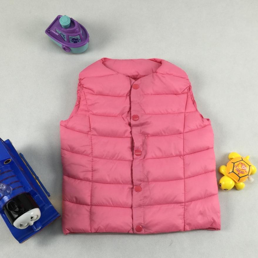 Kids Girls Winter Warm Vest Children Thicken Waistcoat New Arrival High Quality Vest Baby Boys Winter Windbreaker Waistcoat(China (Mainland))