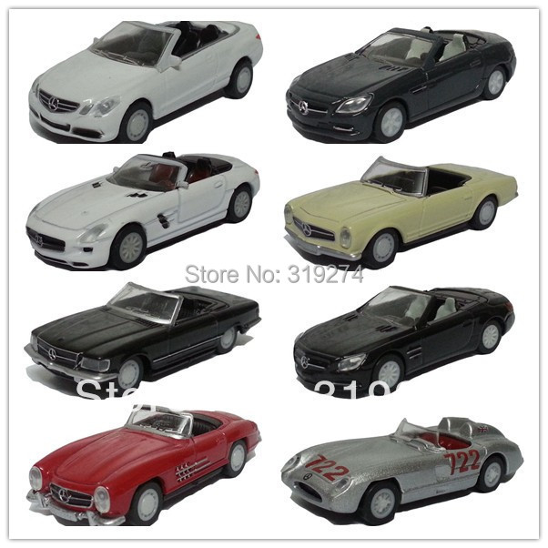 HOT!!! Best GIFT for Children Georgia Mercedes-Benz Convertible Diecast Collectible 8pcs/lot Model Car Toys Loose Without Box(China (Mainland))