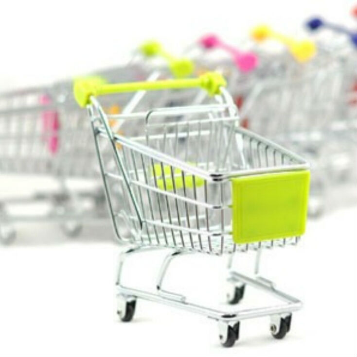 Free shipping creative storage cart mini shopping car trolley market wheelbarrow novelty items A0483(China (Mainland))