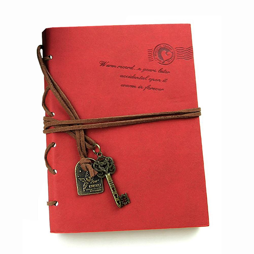 SZS Hot Classic Retro  Leather Bound Blank Pages Journal Diary Notepad Notebook Red 143*105*20mm.<br><br>Aliexpress