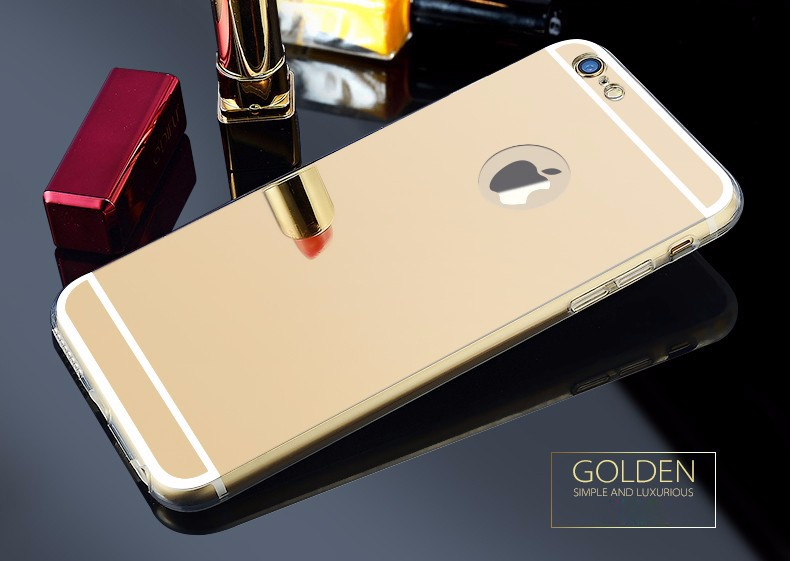 """Hot Sale Luxury Mirror Electroplating TPU Case For iPhone 6 / For iPhone 6s 4.7"""" Soft Clear Transparent Mirror Ultra Slim Cover"""