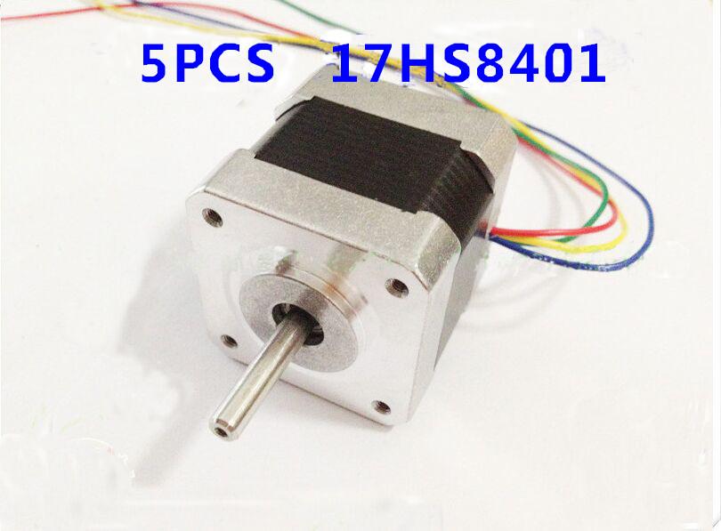 5pcs NEMA17 CNC stepper motor 17HS8401 stepper 78 Oz-in /48mm stepping motor/1.8A