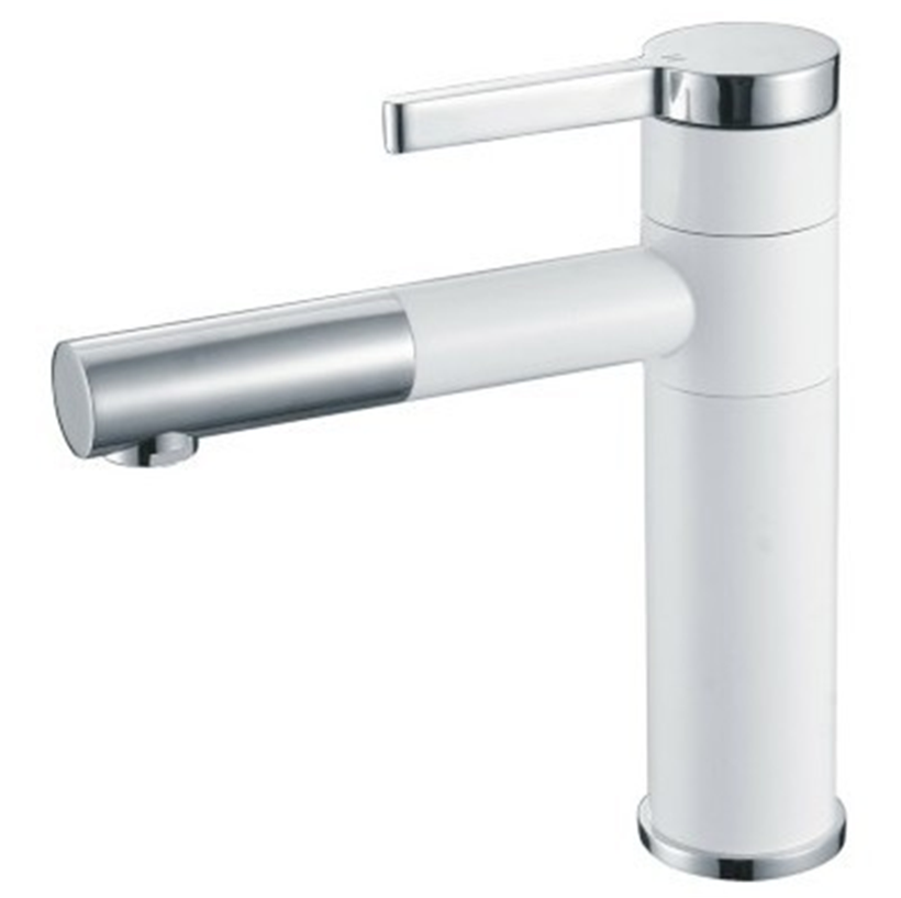 Free shipping luxury white paint bathroom faucet brass for Expensive faucets