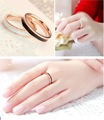 Titanium Steel Top Quality Rose Gold Plated Fashion Oil Painting Women Finger Rings Cheap Women Rings