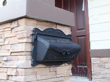 Wall mounted cast aluminum decorative mail boxes outdoor maibox aluminum letter box()