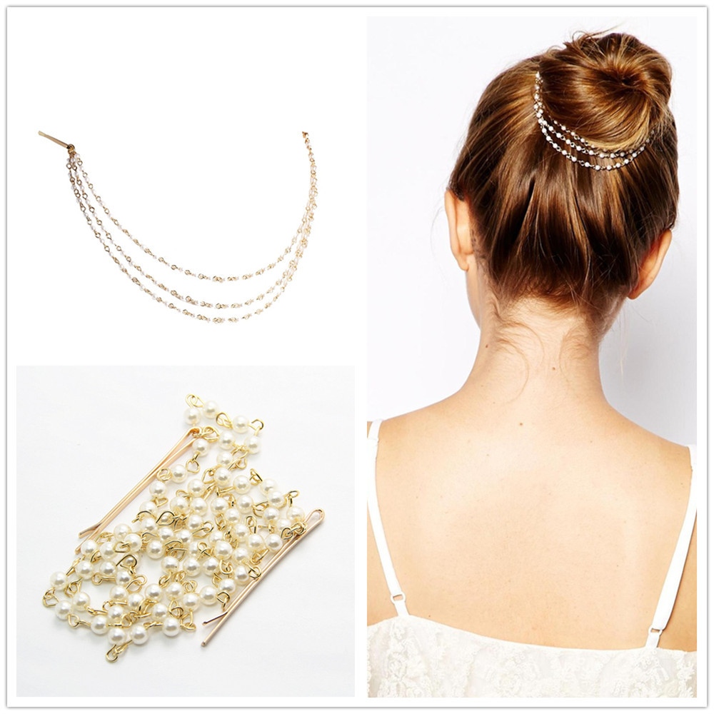 Pearl Hairpin Hair Accessories Hairstyle braider acessorios para cabelo headband barrette CF106(China (Mainland))