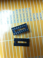 FREE SHIPPING The new 16 -pin DIP IC socket DIP16 IC socket 16P IC Block 60PCS/LOT