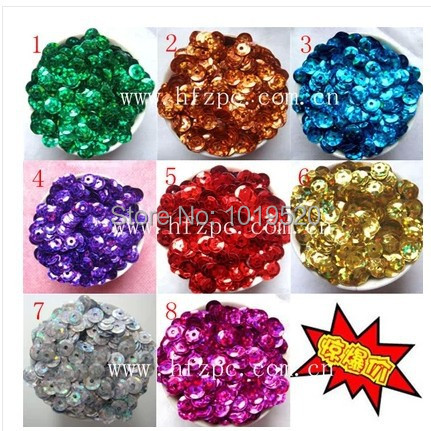 diy hand stitched sequins paillette garment accessories sequins 6mm laser sheet &sewing accessories(China (Mainland))