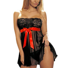 Hotsale Fashion Sexy Plus Size Lingerie Nightwear underwear babydoll black hotFree Shipping