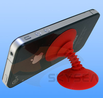 Holder for mobile phone,Sucker stand prop up your smart Phone to conveniently watch movies and video