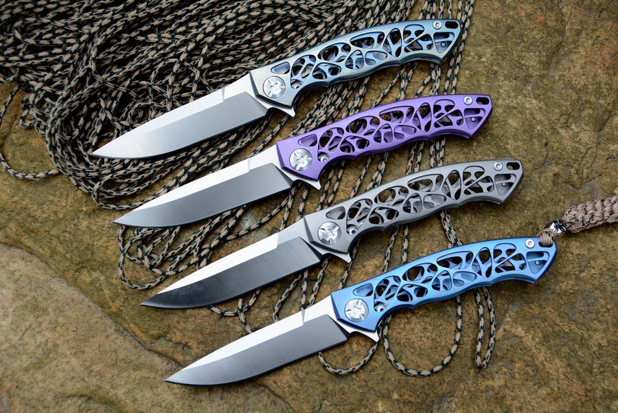 Buy Y-START Dmitry Sinkevich flipper folding knife D2 blade TC4 Titanium camping hunting pocket fruit knives EDC tools cheap