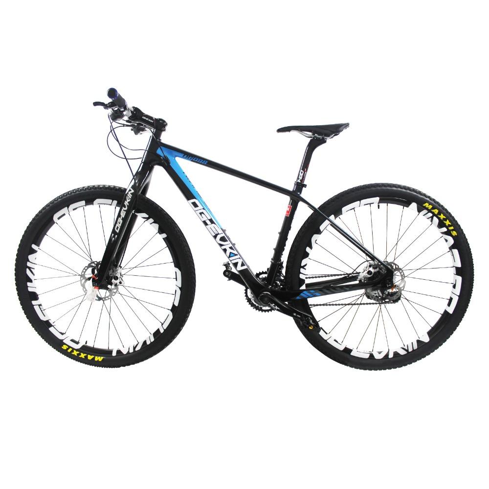 "30 Speed 29er super light 10.4kg carbon mountain bike oil/disc brake carbon complete bike 16""/17.5""/19""/21(China (Mainland))"