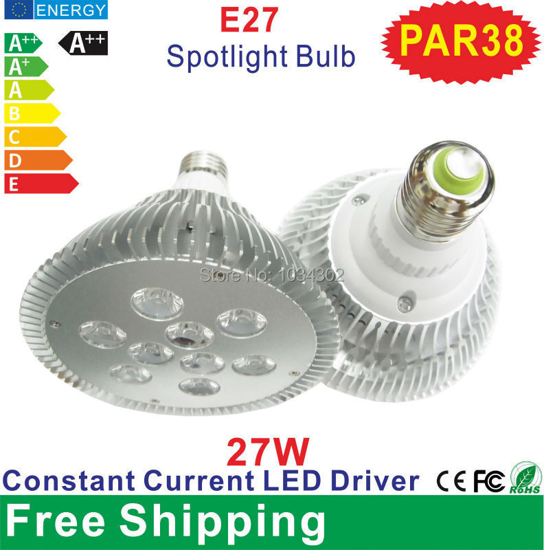 PAR38 27w Led Spotlight Bulbs (Warm White or Cold White) E27 220V High Quantity Led Lamp Bulb Constant Current Led Drier(China (Mainland))