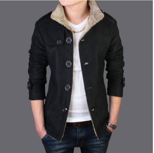 2015 +new+2015+winter+wool+coat+men%27s+outerwear+wool+woolen+jacket+popular+male+korean+slim+british+tide+men%27s+jackets+b024(China (Mainland))