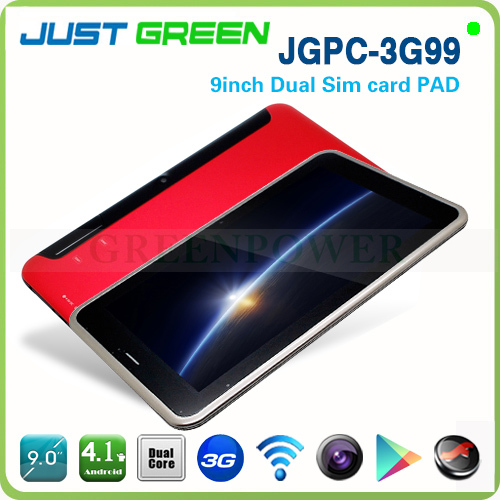 Free shipping Tablet 3G99 9 inch 1GB/8GB Android 4.1 1024*600 dual sim card 3G tablet pc support phone call(China (Mainland))