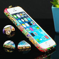 5S Metal Czekh Crystal Frame Bumper For Apple iPhone 5 5s Luxury Shining National Style Rhinestone Case for iPhon 5 Case
