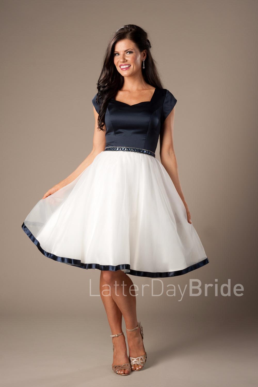 Navy Blue Short Wedding Dress   Dress images
