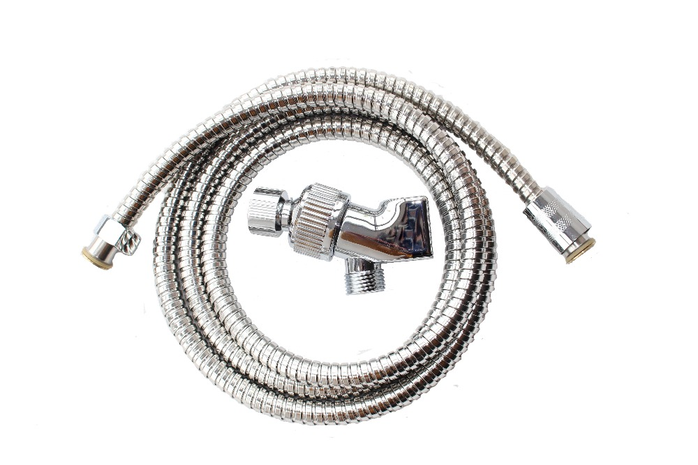 Shower Head Holder/Swivel Adapter For Shower Head/Shower kits+1.5 m Stainless Steel Explosion-proof Shower Hose(China (Mainland))