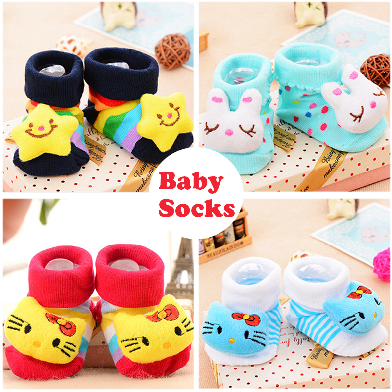 Cartoon Design Resilient Baby Socks For Girls Kindergarten Stocking Knee Socks For Baby Ankle Socks Calcetines Meias<br><br>Aliexpress