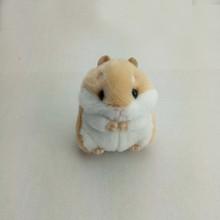 Hamster Mini Faux Rabbit Fur Pompom Fofo Bugigangas Carro Bolsa Pingente Chian Chave Anel Titular bonito chaveiro de pelúcia(China)