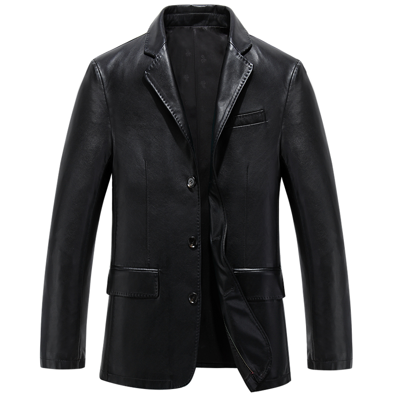 2015 New Winter Leather Jackets Men Coats Outdoor Male Faux Suit Collar Casual overcoat clothing 3XL,EDA118