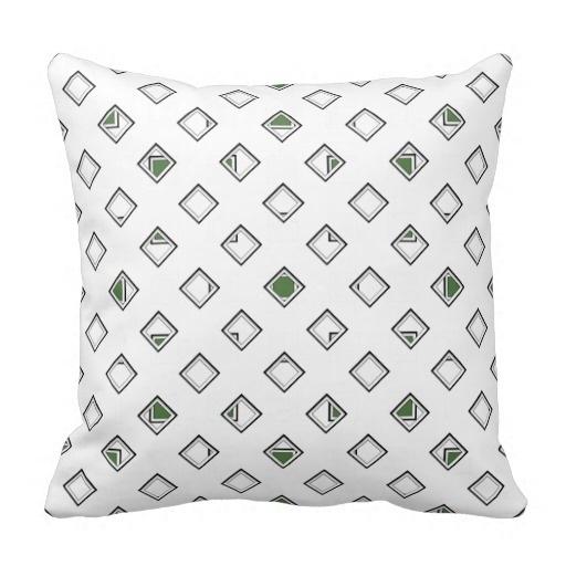 Positive Artistic Classy Fern Green Pillow Case (Size: 20