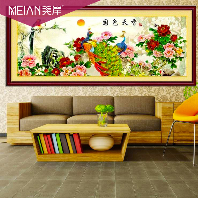 Гаджет  Exquisite beauty shore stitch peacock red peony flowers landscape magpie one meter eight living paintings None Изготовление под заказ