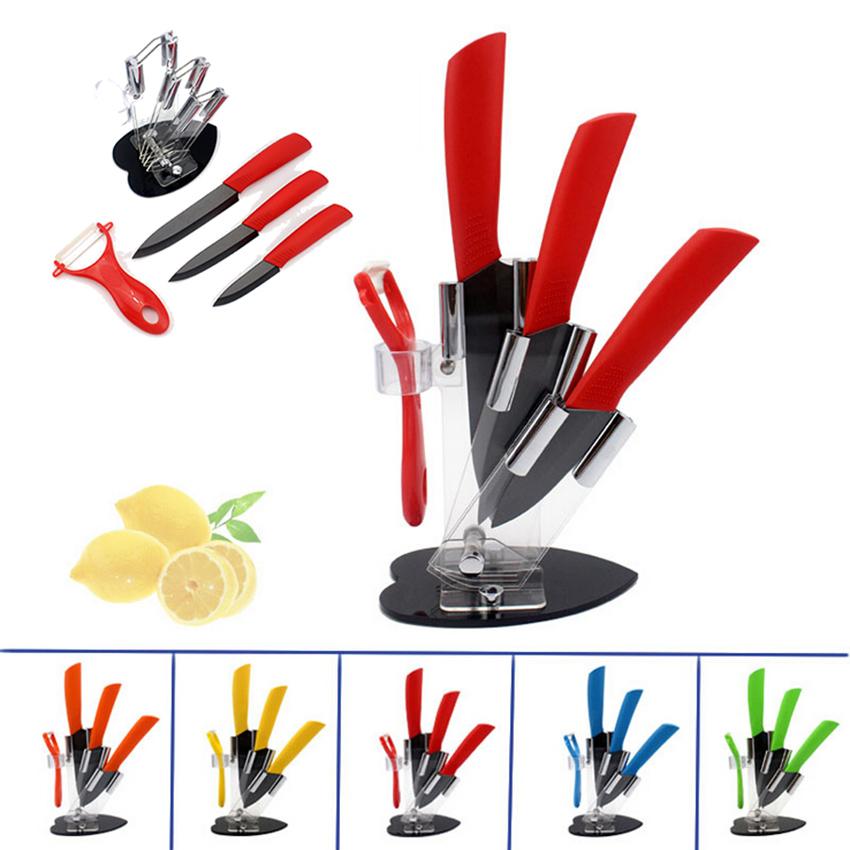 High quality black blade ceramic knife set home easy chef for Kitchen knife set quality