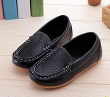 2016 New Boys &Girls Leather Shoes Baby  Moccasins kids Shoes Loafers Sneakers Fashion Children Shoes For soft bottom Boys X189(China (Mainland))