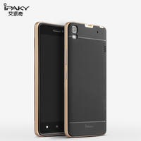 For Lenovo K3 Note A7000 Case Original IPAKY Luxury Neo Hybrid TPU Back Cover with Plastic Frame For Lenovo K3 Note Fundas Cases