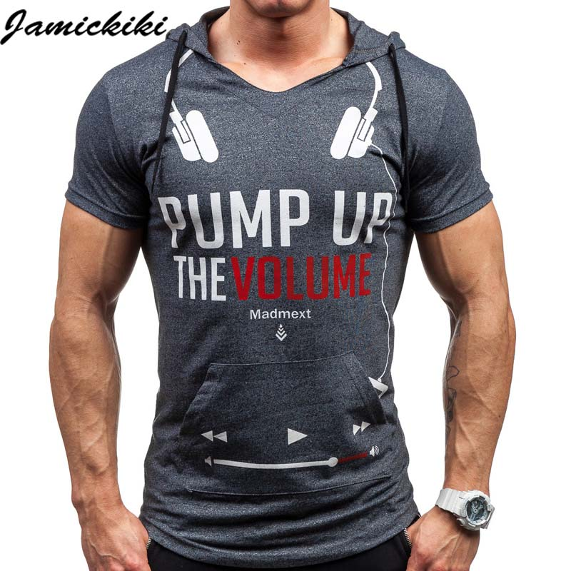 2016 Hip Hop Fashion Men's Hoody t shirts Male Play Music Printed Short Sleeve Fitness t-shirt Hombre Pullover Streetwear TopTee(China (Mainland))