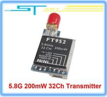 2014 Newest Super Light 5.8G 200mW 32Ch Transmitter 2-7S input FT952 for Drone RC quadcopter FPV X350 pro X800 Drop toy hobbies