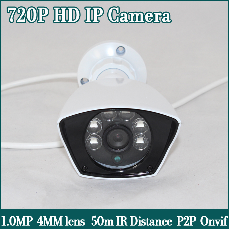 HD IP Camera 720P ONVIF CCTV IP Cam 1.0MP IR CUT 30m IR Waterproof Outdoor Security Surveillance Camera(China (Mainland))