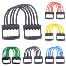 Retail wholesale! Indoor Sports Chest Expander Puller Exercise Fitness Resistance Cable Band Yoga