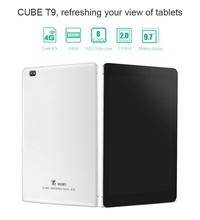 9 7inch Cube T9 4G LTE Phone Call Tablet PC MTK8752 Octa Core IPS Screen 2048x1536