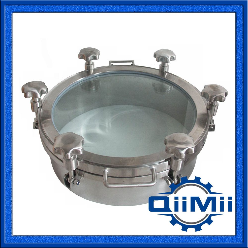 350mm SS304 pressure view glass cover;Sanitary manhole cover with sight glass;(China (Mainland))