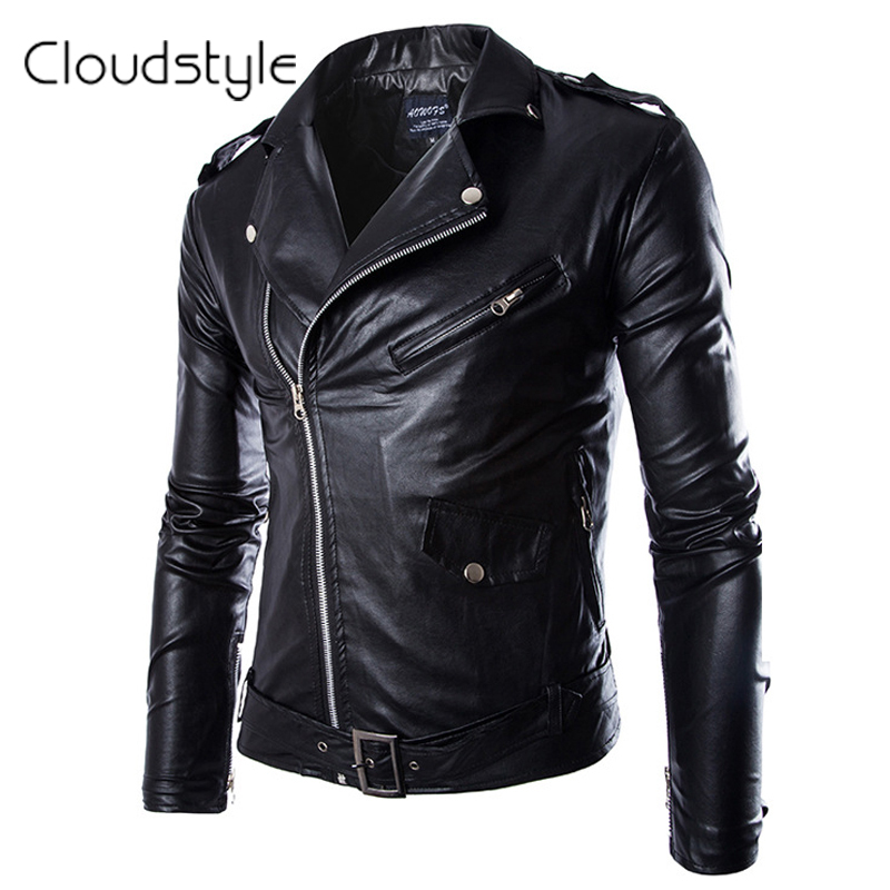 Mens Zipper Design Turn Down Collar Brand Designed Mens leather Jacket Locomotive Style Mens Slim Fit Leather Clothing BlackОдежда и ак�е��уары<br><br><br>Aliexpress