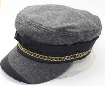 100% cotton Military hat cotton army cap for woman or girls Fashion style for Fall and winter(China (Mainland))