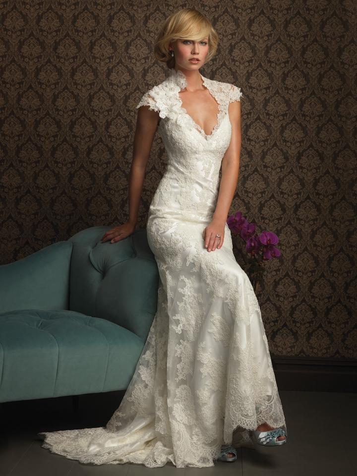 vintage chic lace wedding dresses_Wedding Dresses_dressesss