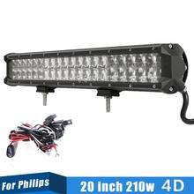 LED Light Bar 20 inch 210W LED Work Light Fit SUV Golf AWD Trailer Car Bumper Roof Off Road Driving Light 4D Len(China (Mainland))