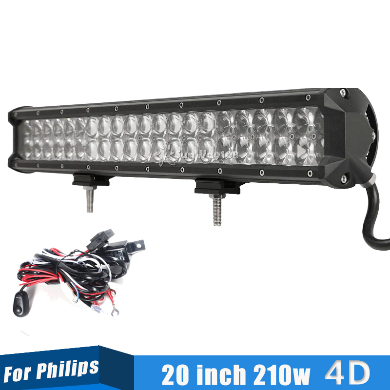 High Power 200w 20 Inch Jeep Accessories Led Light Bar For: ขายส่งสั่งซื้อโดยตรง GD Traders