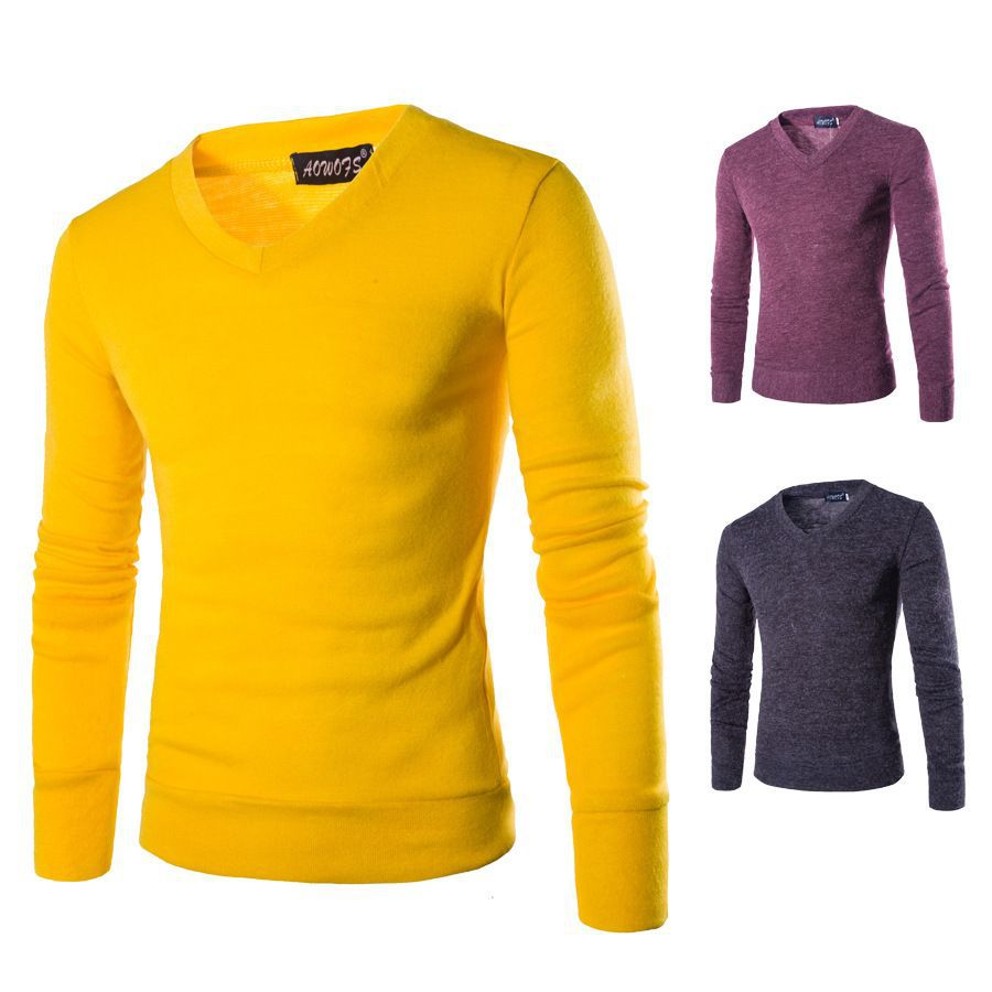 7 color casual t shirt autumn and winter thermal long for Mens black thermal t shirts