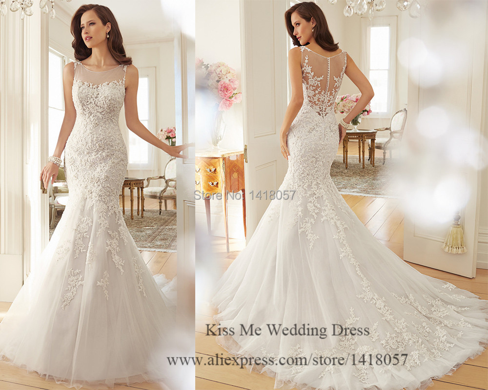 Mermaid Wedding Gown Designs : Latest design lace wedding dress mermaid bridal gowns