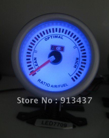 "SPECIAL OFFER 52mm 2"" Blue LED Air Fuel Ratio Auto Gauge Racing Meter LED7709"