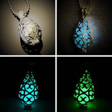 Cute Women Lady Glow in the Dark Pendant Long Chain Necklace Fashion Jewelry Gift Free Shipping