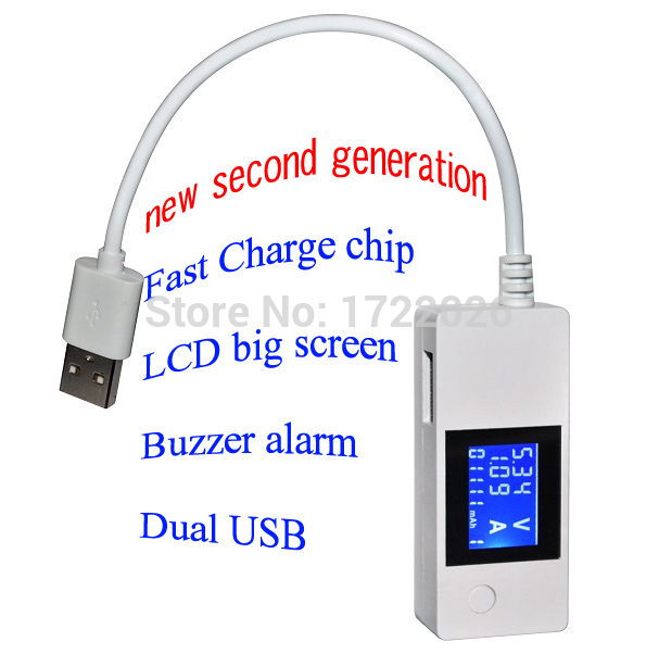 Гаджет  LCD USB Tester and Current Detector Mobile Power USB Charger Tester Meter,fast charge. phone charge doctor voltage meter None Инструменты