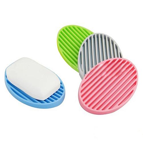 Creative Silicone Flexible Soap Plate Holder Bathroom Toilet Soapbox Soap Dish 09WG(China (Mainland))