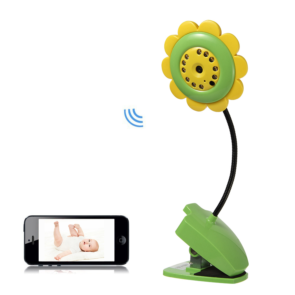 Sunflower Wireless Baby Monitor Night Vision Remote View Home Security Wifi IP Camera Baba Eletronica For IPhone IPad Smartphone